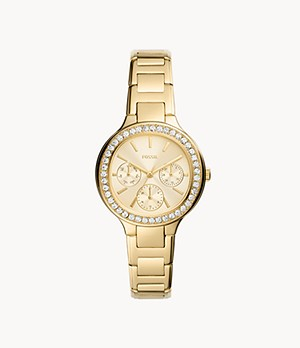 Weslee Multifunction Gold-Tone Stainless Steel Watch