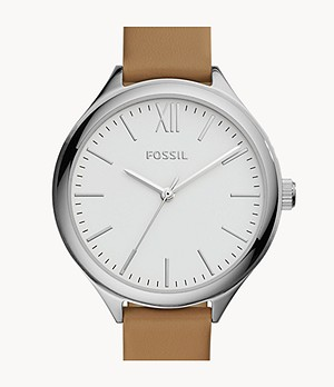 Suitor Three-Hand Brown Leather Watch