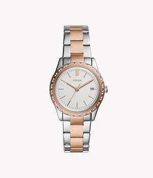 Adalyn Three-Hand Date Two-Tone Stainless Steel Watch