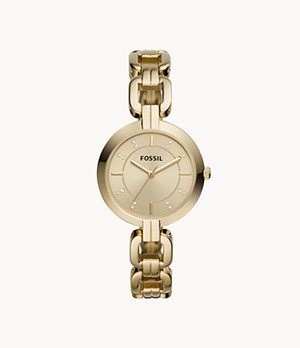 Kerrigan Three-Hand Gold-Tone Stainless Steel Watch