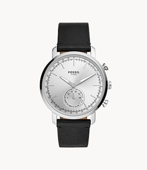 Hybrid Smartwatch Luther Black Leather