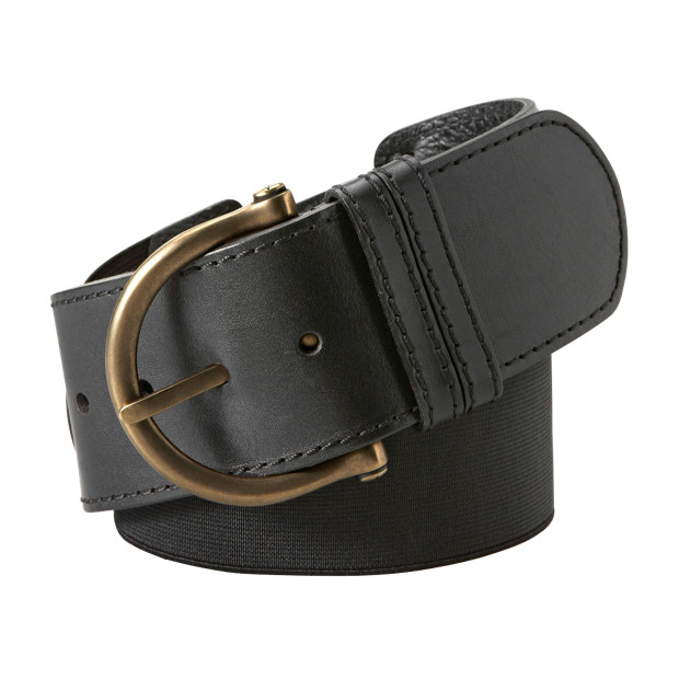 Wide Leather Stretch Belt