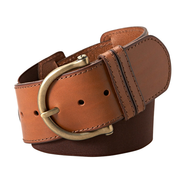 BT3893 - Wide Leather Stretch Belt