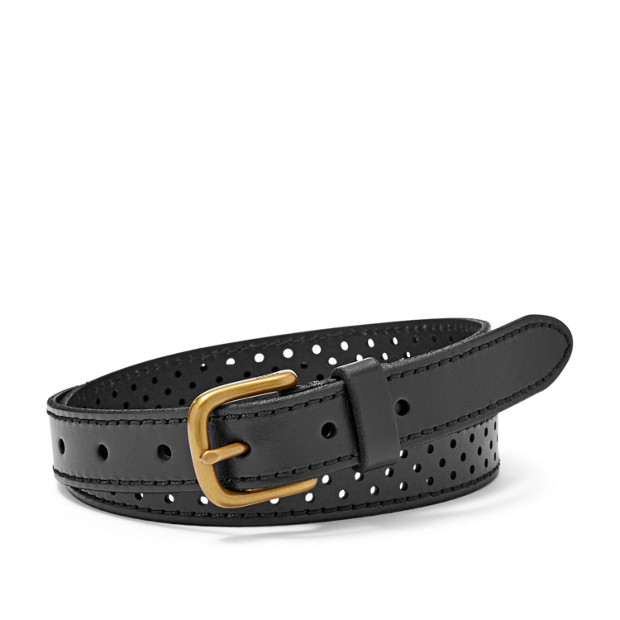 Damen Gürtel - Dotted Perforated Belt