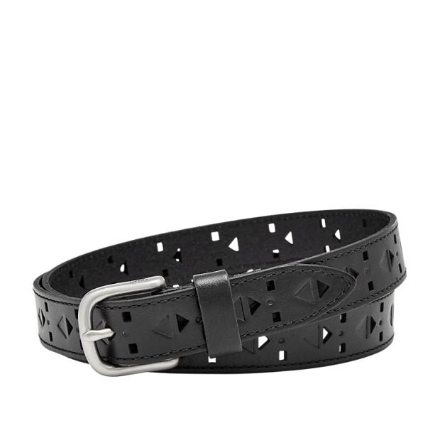 Damen Gürtel - Diamond Perforated Belt