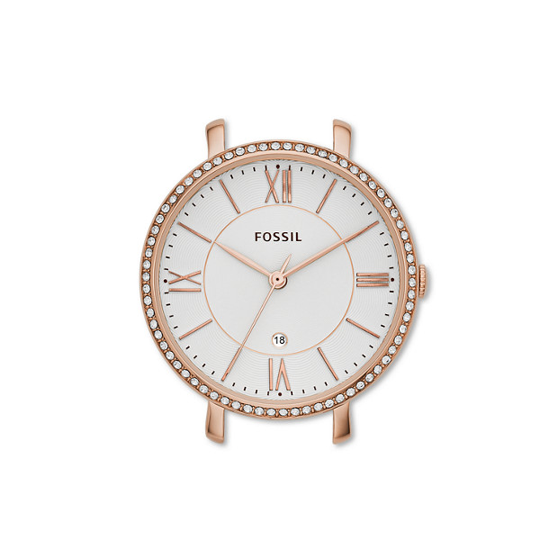 Jacqueline Rose-Tone Stainless Steel Watch Case