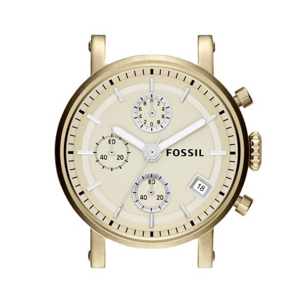 Stainless Steel 18mm Watch Case - Champagne