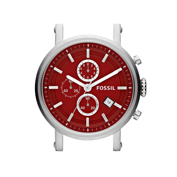 Stainless Steel 22mm Watch Case - Red