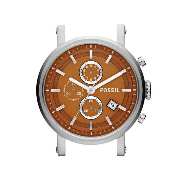Stainless Steel 22mm Watch Case - Orange