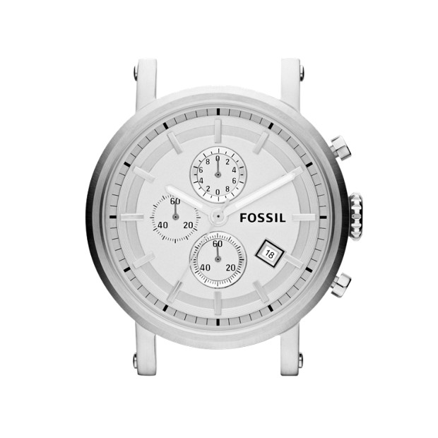 Stainless Steel 22mm Watch Case - Silver-Tone