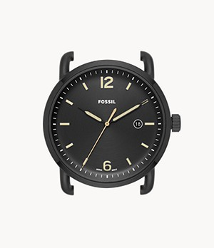 The Commuter Three-Hand Date Black Stainless Steel Watch Case
