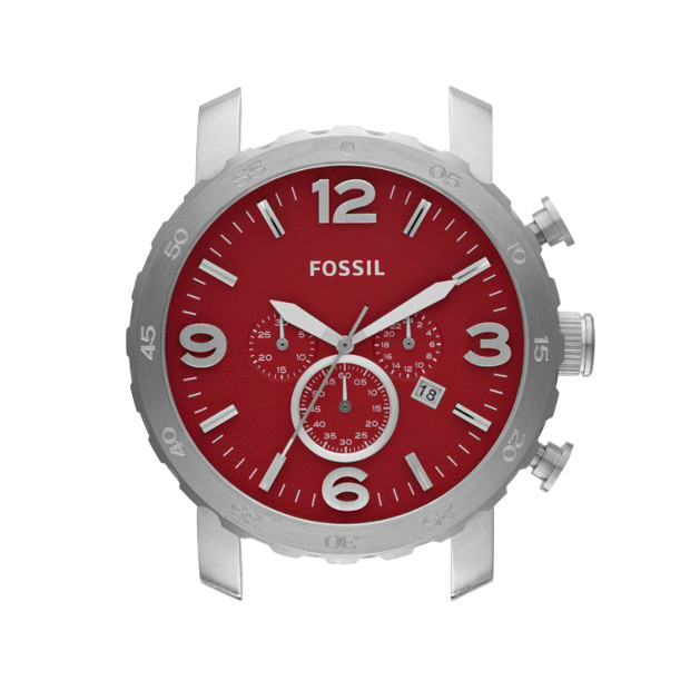Nate 24mm Stainless Steel Watch Case - Red