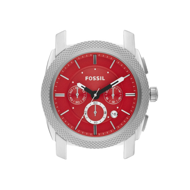 Machine 24mm Stainless Steel Watch Case – Red
