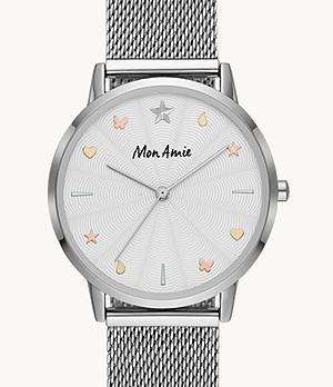 Mon Amie Iconic Education Steel Watch and Bracelet Set
