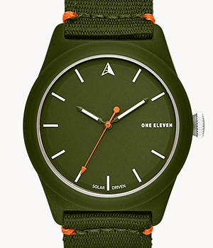 SWII Solar Three-Hand Green rPet Watch