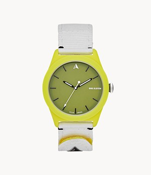SWII Solar Three-Hand Yellow rPet Watch