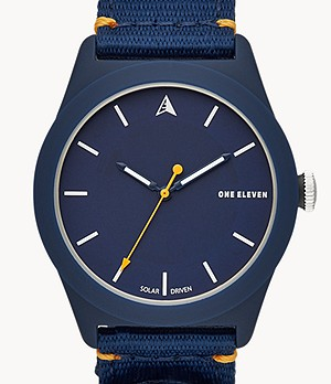 SWII Solar Three-Hand Navy rPet Watch