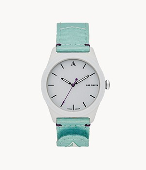 One Eleven SWII Solar Three-Hand Mint rPet Watch