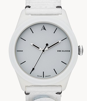 One Eleven SWII Solar Three-Hand White rPet Watch