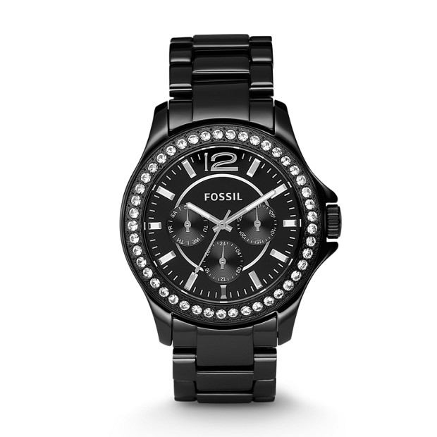 Riley Multifunction Ceramic Watch - Black