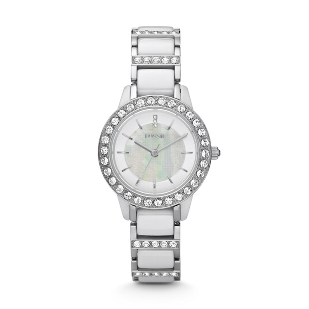Jesse Ceramic White Watch