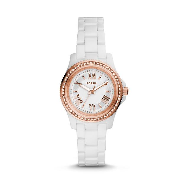 Cecile Mini Ceramic White Watch