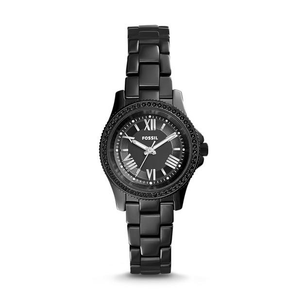 Cecile Black Ceramic Watch
