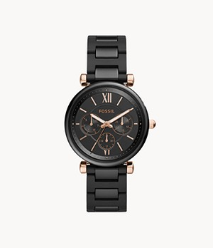 Carlie Multifunction Black Ceramic Watch