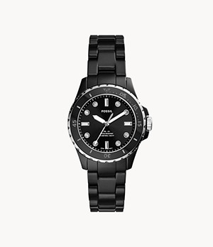 FB-01 Three-Hand Black Ceramic Watch