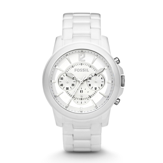 Grant Chronograph Ceramic White Watch