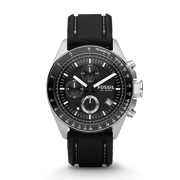 Montre Decker chronographe en silicone - Noir