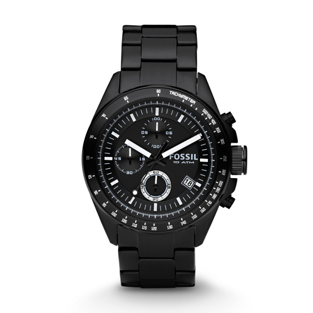 Decker Chronograph Black Stainless Steel Watch