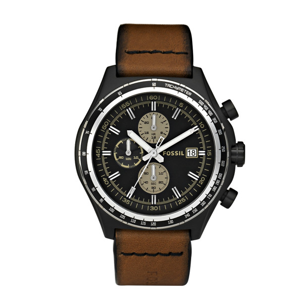 Dylan Chronograph Brown Leather Watch