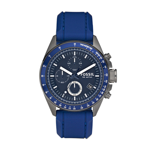 Decker Silicone and Aluminum Watch - Blue