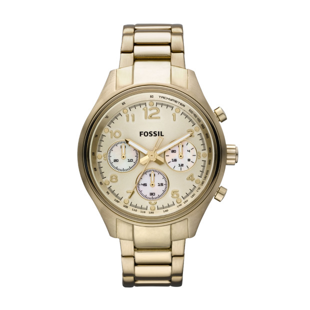 Flight Plated Stainless Steel Watch - Gold-Tone