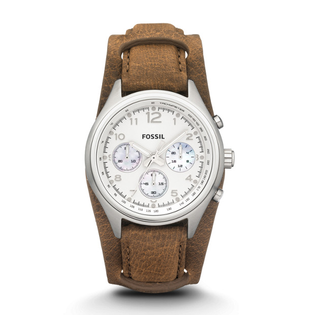 Flight Chronograph Leather Watch - Tan
