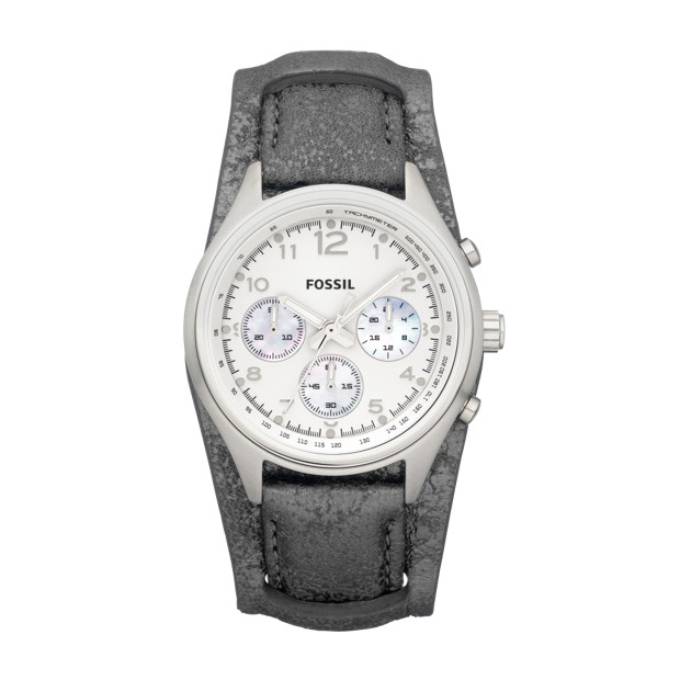 Flight Leather Watch - Pewter