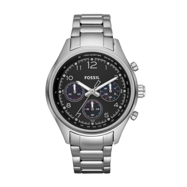 Flight Chronograph Stainless Steel Watch
