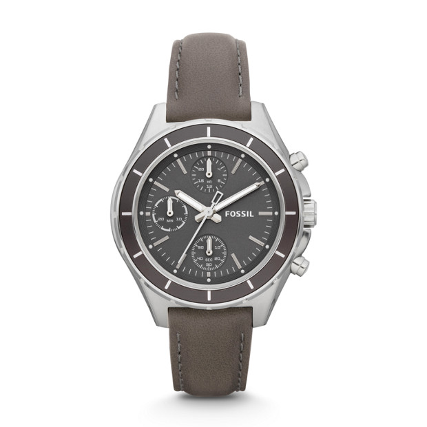 Dylan Leather Watch – Grey