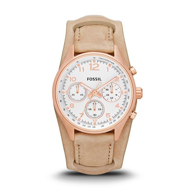 Flight Chronograph Leather Watch - Sand