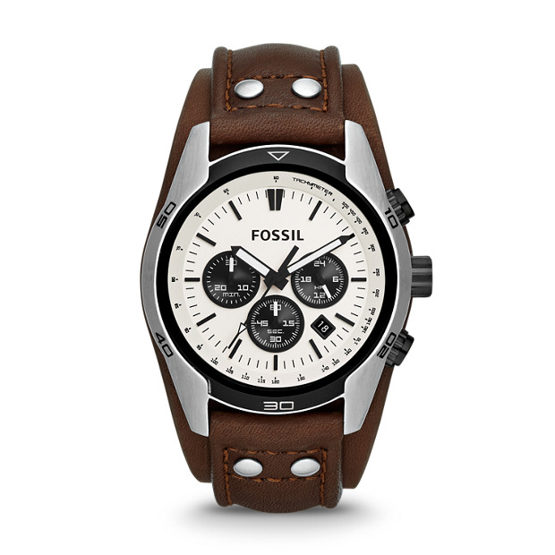 Coachman Chronograph Leather Watch - Brown