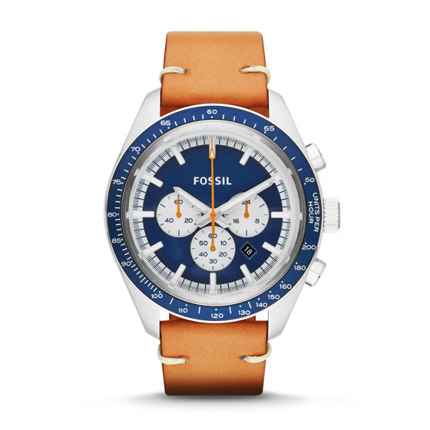 Edition Sport Chronograph Luggage Leather Watch