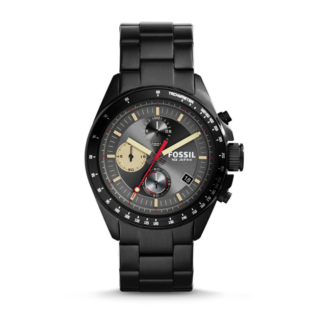 Decker Chronograph Stainless Steel Watch - Black