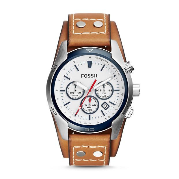 Coachman Chronograph Tan Leather Watch