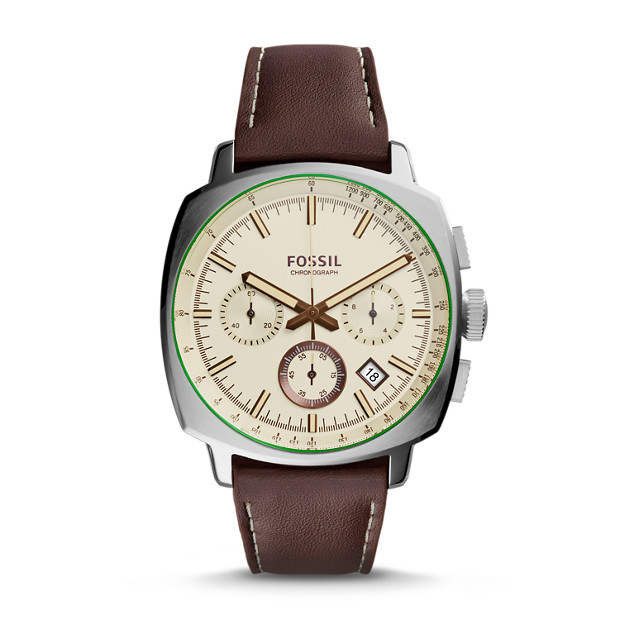Haywood Chronograph Brown Leather Watch