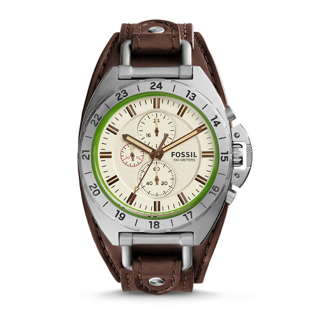 Breaker Chronograph Brown Leather Watch