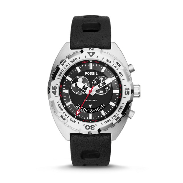 Breaker Tide Chronograph Black Silicone Watch