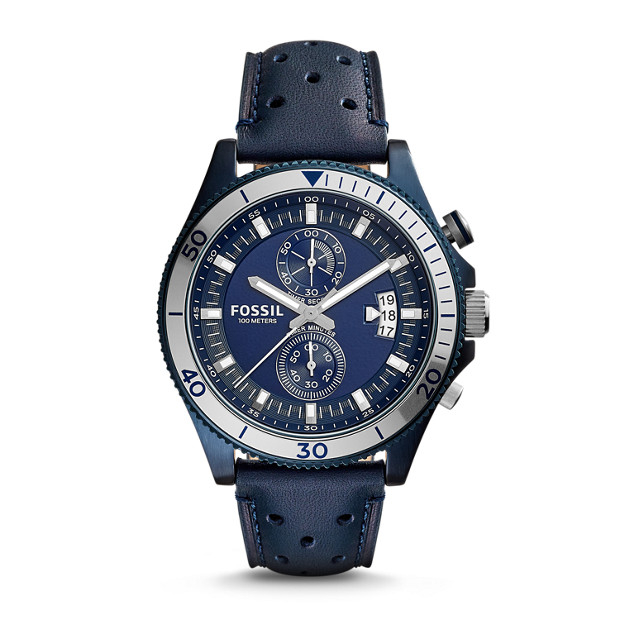 Wakefield Chronograph Blue Leather Watch