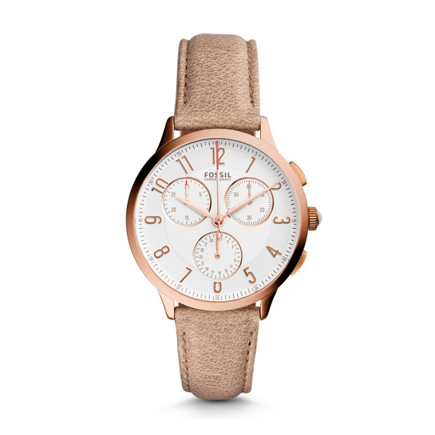 Abilene Chronograph Light Brown Leather Watch