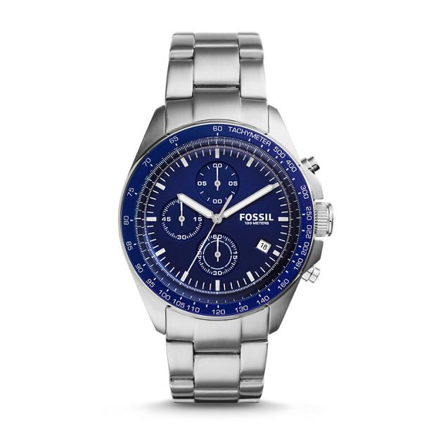 Montre Sport 54 chronographe en acier inoxydable